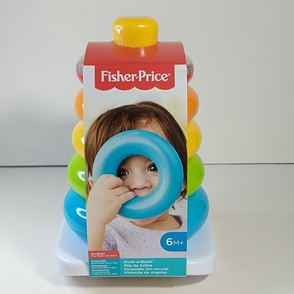 Fisher-Price Rock-a-Stack Ring Stacking Toy